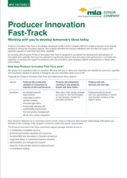 Producer Innovation Fast-Track Information Sheet