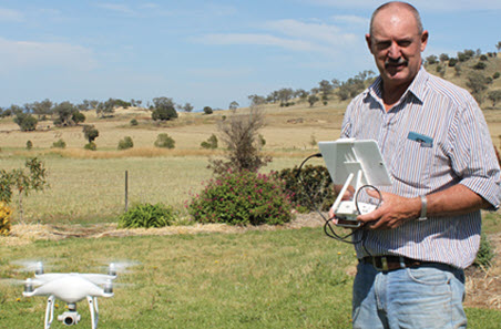 Darren Swain with drone