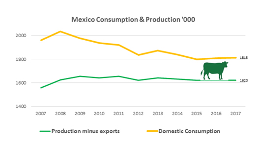 Mexico Consumption and Production