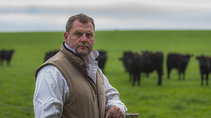 Jim Gaylard, Trawalla property manager, Rose Grange Pastoral Company, Little River, near Geelong