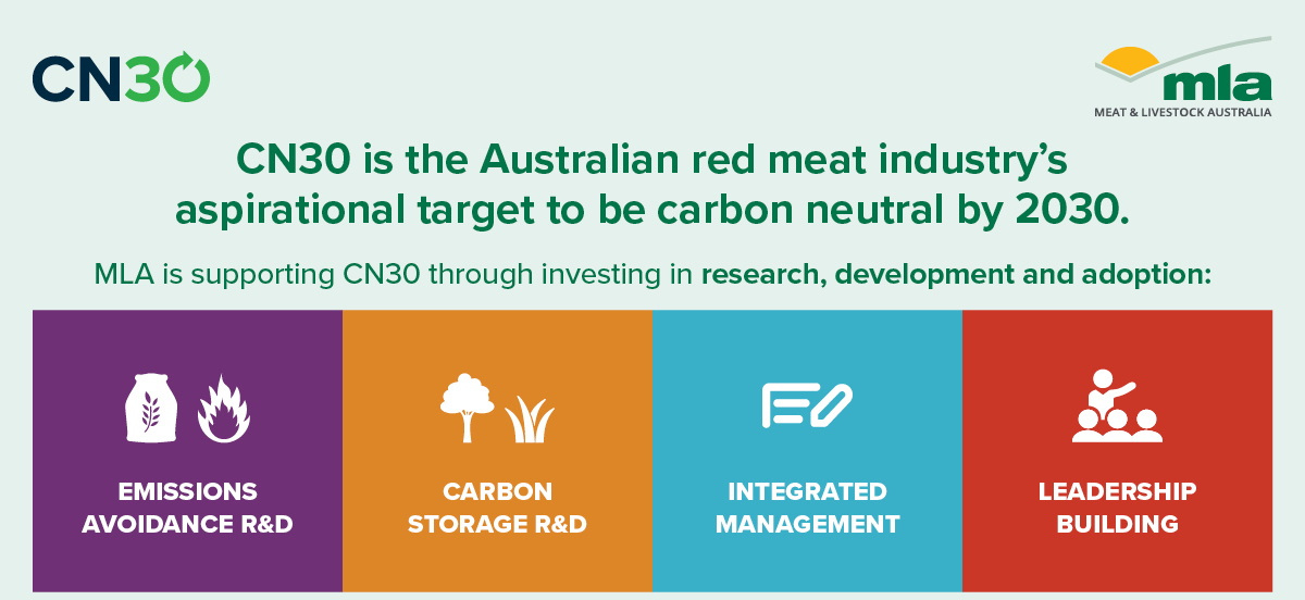 CN30 is the Australian Red Meat industry's aspirational target to be carbon neutral by 2030